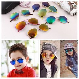 Glasses Sun Protection Australia - INS Free Shipping Fashion Baby Boys Kids Sunglasses Piolt Style Brand Design Children Sun Glasses 100%UV Protection Oculos De Sol Gafas