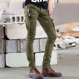 $enCountryForm.capitalKeyWord Canada - Men Army Green Distressed Ripped Jeans Fashion Designer Straight Motorcycle Biker Jeans Causal Denim Pants Streetwear Style mens Jeans Cool