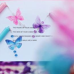 $enCountryForm.capitalKeyWord Australia - Gel Pens Creative Butterfly Pendant Neutral Pen Signature Pen Black Ink Office School Stationery Girl Gifts