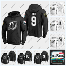 all star hoodie NZ - Taylor Hall New Jersey Devils 2019 All-Star Game Hoodie Nico Hischier Kyle Palmieri Miles Wood Patrick Maroon Mackenzie Blackwood Jersey