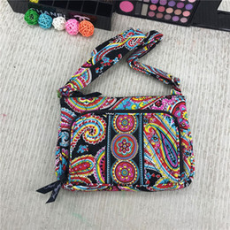 $enCountryForm.capitalKeyWord NZ - VB Pastoral Style Floral Print Shoulder Bag Boho Fashion Fanny Pack Vintage Crossbody Bag Ethnic Style Colorful Bags Beach Mini Purse C72902