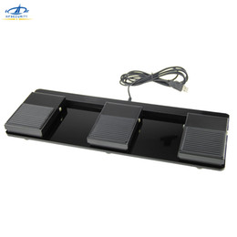 Usb Pedals Australia - HFSECURITY Triple Foot Switch Pedal Usb Gaming Keyboard Wired Non Slip Metal Momentary Electric Power Foot Switch