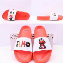 $enCountryForm.capitalKeyWord UK - Women Slippers Indoor Sandals Cartoon Cookie Monster Elmo Fashion Scuffs Orange And Blue Women Beach Slides Leadcat Fenty Rihanna Slippers