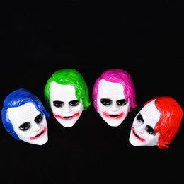 Jester Jolly Masks Australia - Jolly Full Masks Halloween Cosplay Clown Horrible Dark Knight Mask Plastic Masquerade Cosplay Fearsome Jester Party Supplies 3 2jqa hh