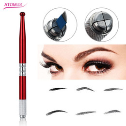 eyebrows microblading supplies Australia - Eyebrow Permanent Makeup Accessories Eye Brow Tattoo Supply Manual Pen Beauty Makeup Microblading Supply Tattoo Manual Pen