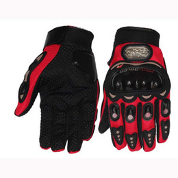 $enCountryForm.capitalKeyWord Australia - Outdoor Sports full finger knight riding motorbike Motorcycle Gloves 3D Breathable Mesh Fabric men Leather Locomotive Glove