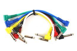 Niko 6 Confezione colorati cavi per chitarra elettrica 8 '' 1/4 angolo retto di effetto del pedale Patch Cord libero commerci all'ingrosso in Offerta