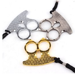 $enCountryForm.capitalKeyWord Australia - Solid Alloy Double Fingers Knuckle Duster Outdoor Emergency Survival Broken Window Self Defense Protective tool Camping Equipment Key Chain