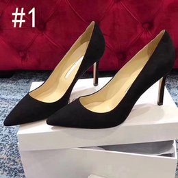 red leather dresses Australia - Newest Hot Fashion designer women shoes high heels Nude black red Leather Pointed Toes Pumps Dress shoes Heels Shoes Sexy Women Pump