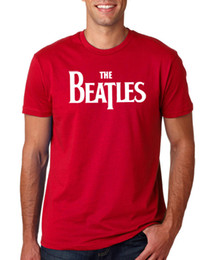 Music Man T Shirt UK - THE BEATLES LOGO RED MENS T SHIRT MUSIC ROCK PUNK RETRO POP 80s GIFT Funny free shipping Unisex Casual Tshirt top