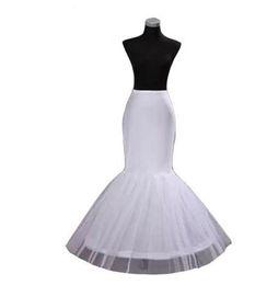 Chinese  Hot Sale Mermaid Petticoat 1 Hoop Bone Elastic Waist Wedding Dress Crinoline Trumpet 2019 High Quality Bridal Petticoats Cheap in Stock manufacturers