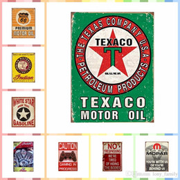 $enCountryForm.capitalKeyWord Australia - TEXACO MOTOR OIL 20*30cm Metal Tin Signs Paint Luxury Home Decor Posters Wall Art Crafts Supplies Art Painting Supplies Room Decor