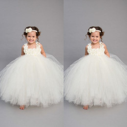 $enCountryForm.capitalKeyWord Australia - 2019 Vintage Ivory Flower Girls' Dresses Handmade Baby Infant Toddler Baptism Clothes With Tutu Ball Gowns Birthday Party Dress Tailor