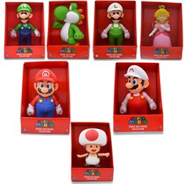 toad toy Canada - 7Styles 23cm Super Mario Bros Figure Yoshi Peach Princess Toad PVC Action Figure Hot Toys For Children Mario Luigi Free Shipping