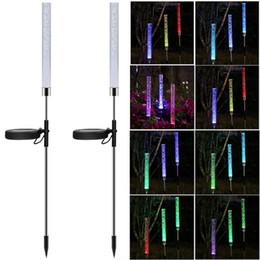 Lampes solaires de jardin à LED Lampes d'extérieur solaires imperméables extérieures Spotlight pour la voie de jardinage Décoration Lumière Jardin Éclairage de jardin en Solde