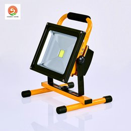 gy6.35 led 2020 - Led charging floodlight 30W 100w waterproof IP65 aluminum outdoor camping portable work light mobile emergency searchlig