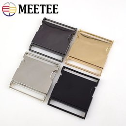 $enCountryForm.capitalKeyWord Australia - Meetee Metal Buckles 40 50mm Quick Side Release Buckle Webbing Belt Clip DIY Garment Bags Accessories Clip Buckles AP313