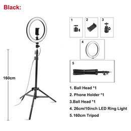 Wholesale Ring Lamp Led Ring Light Selfie With Tripod Ring with tripod stand For Selfie Phone Video Photography Lighting For Phone Holder
