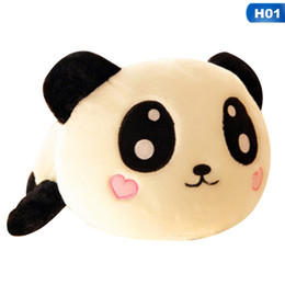 Discount stuffed animal panda - Giant Panda Pillow Mini Plush Toys Stuffed Animal Toy Doll Pillow Plush Bolster Doll Valentine's Day Gift Kids Gift