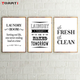 $enCountryForm.capitalKeyWord Australia - Laundry Room Decorative Posters Prints Modern Clean Quotes Canvas Painting For Bathroom Home Decor Wall Art Pictures Family Gift