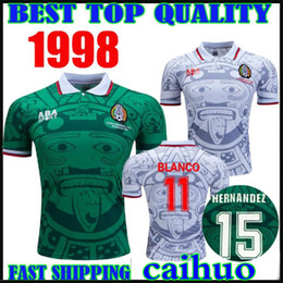 5b19821ac Discount 1998 mexico jersey - Thailand Quality Retro 1998 Mexico World Cup  Classic Vintage Soccer jerseys