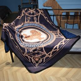 $enCountryForm.capitalKeyWord Australia - Luxury designer brand comfortable bedding blanket geometric patterns double layer thicken soft blanket shawl Christmas new Year gift