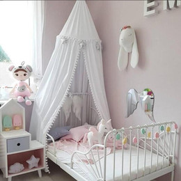 tent baby mosquito NZ - Baby bed curtain Children Room decoration Crib Netting baby Tent Cotton Hung Dome Mosquito Net photography props