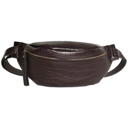 Woman Funny Bags NZ - Crocodile Pattern Pu Leather Waist Bags For Women Solid Color Funny Packs Ladies Belt Bags For Phone Female Funny Pack