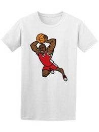 Fashion cartoon images online shopping - Cool Basketball Player Cartoon Men s Tee Image by Custom