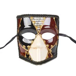 Vintage cat mask online shopping - Mens Masquerade Mask Vintage Venetian Greek Roman Party Mardi Gras teampunk Masquerade Halloween Masks One Size Fit Most