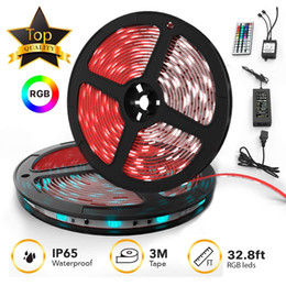 smd led pack Australia - 2-Pack 32.8ft 300LEDs SMD 5050 RGB 44 Key Remote Controller LED Strip Lights Kit Flexible Color Changing for TV, Room Cabinet Decoration