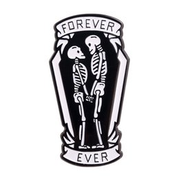 enamel pin badges UK - Lover Enamel Pin Badge Forever Ever Valentine day Boyfriend and Girlfriend Gift