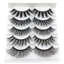 $enCountryForm.capitalKeyWord Australia - 7 styles 3D False Eyelashes Handmade Thick Long Soft Lashes Fake Eye Lashes GL Series Makeup Eyelash 5 Pairs pack