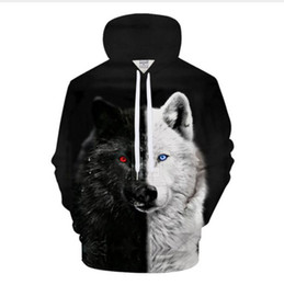 bape jacket xl UK - Hot Fashion Streetwear 3D HD Print Casual Wolf Hoodies Sweatshirts Men Women Hoodie Jacket Coat LMS0107