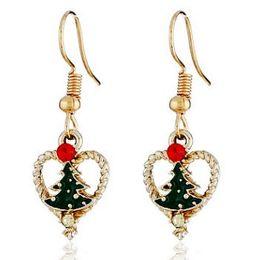 Earring Wholesalers Usa Australia - CHRISTMAS EVE TREE HEART EARRING FOR WOMEN ZINC ALLOY EXPORT USA LUXURY EARRINGS HIGH QUALITY CHARM DANGLED EAR JEWELRY UNIQUE DECOR