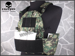 Paintball Tactical Gear Australia - EMERSON 6094S Style Plate Carrier AOR2 Tactical Vest Airsoft Paintball Military Combat Gear Jungle Digital EM7345 JD #119298