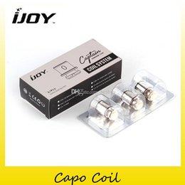 100% Original IJoy CAPO Cabeça Da Bobina CA-M1 0.5ohm CA-M2 0.3ohm Bobina Fit Autêntico Capitão Mini Tanque kit Mod 2228530 venda por atacado