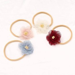 baby hair thinning NZ - Baby Flower Thin Headbands Stretchy Traceless Kids Boutique Hair Accessories Fashion Newborn Infant Toddler Baby Princess Headbands