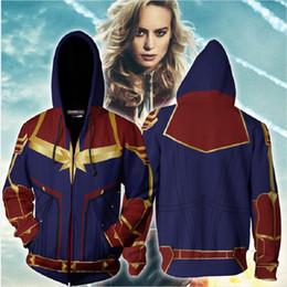 $enCountryForm.capitalKeyWord Australia - BIANYILONG 2019 New Autumn Winter 3D printing Captain Marvel Cosplay New Look Zip Up Sweatshirt Hooded Clothing Jacket