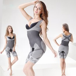 Full Body Slimming Suit Australia - Natural Bamboo Slimming Body Suit Shaper Firm Control Anti Cellulite Underwear Full Body slimmer Shaperwear waist training