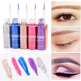 sticker makeup eyeshadow NZ - 5 Colors Eyeliner Cosmetics Colorful Eye Liner Shadow Sticker Eyeshadow & Eyeliner Pencil Shimmer Glitter Shining Makeup Beauty