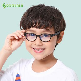 kids blocks wholesale NZ - SOOLALA Anti Blue Light Silicone Glasses Kids Optical Frame Boys Girls Computer Blue Light Blocking Anti Radiation Eyeglasses