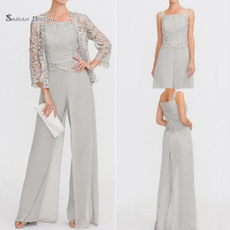 a4a14fc60e Mother bride siMple suit online shopping - 2019 Modest Straps Chiffon Lace  Mother of the Bride