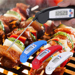 Water Temperature Lcd Australia - Digital LCD Food Thermometer Probe Folding Kitchen Thermometer BBQ Meat Oven Water Oil Temperature Test Tool