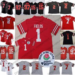 2019 Ohio State Buckeyes  1 Justin Fields  2 JK Dobbins  7 Dwayne Haskins Jr.   97 Nick Bosa  15 Elliott NCAA Rose Bowl Jerseys d044fe5f8