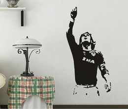 football wall stickers Australia - 615mm*1180mm New Wall sticker TOTTI A.S. Roma Serie A Football Wall Mural Decal Home Decor Art Vinyl