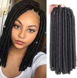 crochet braiding hair Australia - Dreadlocs Faux Locs Hair Extensions 14 Inch Black Straight Goddess Locs Synthetic Crochet Hair Soft Crochet Braids (14 Inch, 1B#