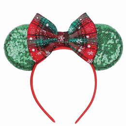 hot sticks hair Australia - Hot sale Christmas party kids headband sequin bows girls designer headband baby designer headbands girls Hair Sticks hair accessories A9205