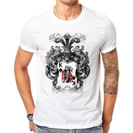 Men Playing Cards Australia - 100% Cotton Harajuku Gothic Playing Cards King T-shirt Men Short Sleeve Cool Design Printed Man T Shirt Male Tee Summer Tops