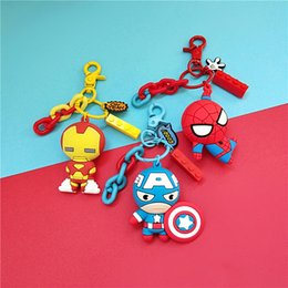 marvel rings Australia - Superhero Avengers Iron Man Superman Marvel Spiderman Captain America Boys Men Girls Key Chain Keyrings Bag Key Ring